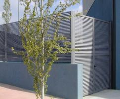Italia steel louvred wheelie bin stores and compounds