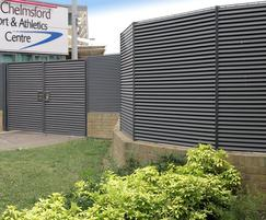 Italia-100 wall-mounted panels Chelmsford Sports Centre