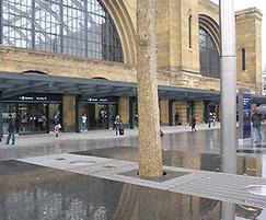 Kings Cross Station stainless steel grating