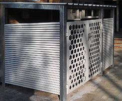 Italia-80 and laser-cut panel bin store