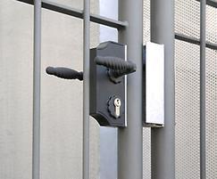 Modena gate with euro-profile cylinder locks