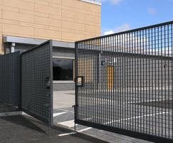 Double leaf gate with Palermo infill panels