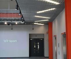 Entrance atrium to BT Sport studios