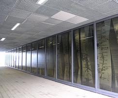 Quattro-33 ceiling tiles concealing service ducting