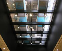 PLSS-33x66 stainless steel as lightwell: Primark Store