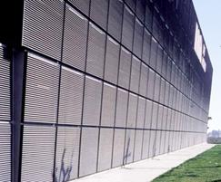 Italia-100 louvred wall cladding