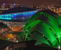 The Scottish Event Campus at night