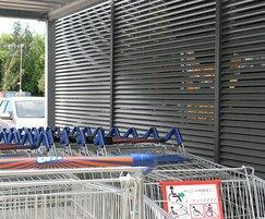 Secure compound for garden centre