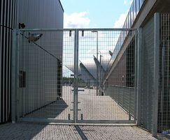 Secure entrance gates at SSE Hydro, Glasgow