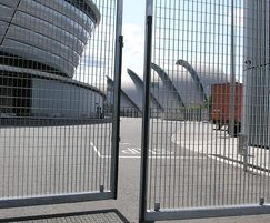Secure entrance gates with Roma-3 grating, SSE Hydro