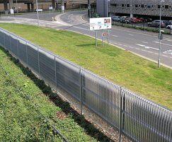 Roma-3 galvanised stee perimeter grating fence