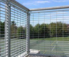 Micro-34 balustrade features horizontal flat bars