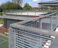 Micro-34 grating for school sports pavilion