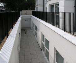 Rimini railings installed around lightwell