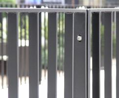 Rimini railing fence hot-dip galvanised and ppc RAL9005