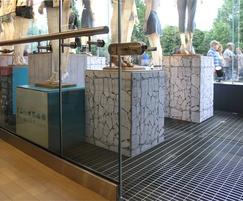 Prestigious stainless steel flooring  - Primark Store
