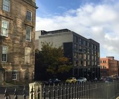 Dakota Hotel Glasgow with roof top screen