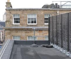 Visual screening from adjacent buildings