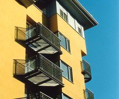 LF Terra 34 steel grating balcony balustrade