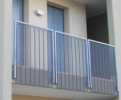 Stretto 11 balcony balustrade blue