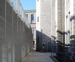 Italia 80 wall louvres Marishal Aberdeen car park