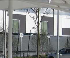 Louvred car park screening
