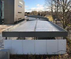 Louvred panels provide 100% visual screening