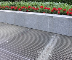 Stainless steel floor grating for apartment block