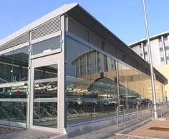 Secure bike store for railway station