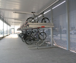 Two-tier racking for 120 bikes