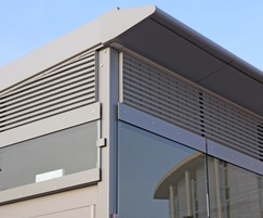 Louvred panels for ventilation