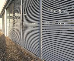 Italia-80 steel louvred panels