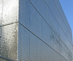 Kinetic stainless steel facade