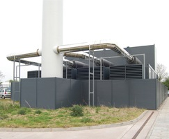 Anti-climb louvres around generator plant