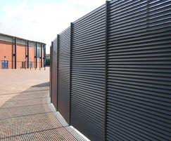Italia-100 screening fence Lesser Hampden Stadium