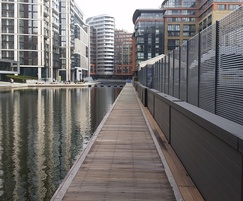 Italia-80 screening fence, Paddington Basin
