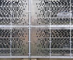 Good ventilation through tile pattern