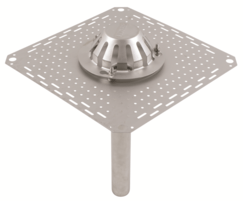 50mm stainless steel gravity roof drain outlet