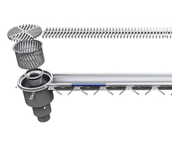 HygienicPro® stainless steel drains and channels