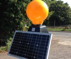 Solar powered Belisha beacon