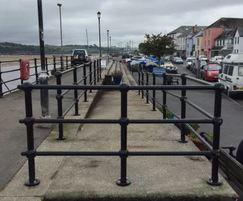 Cast polyurethane railings at Appledore Quay