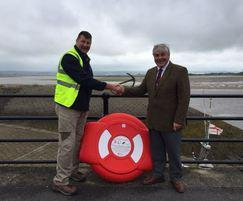 A lifebuoy donated to Appledore by Street Furnishings