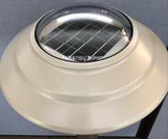 Head shot of Solar bollard