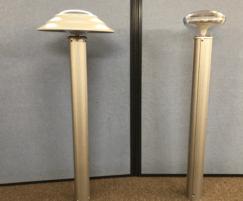 2 variations of Solar bollard