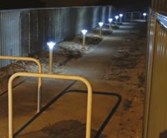Low level illumination from Solar bollards