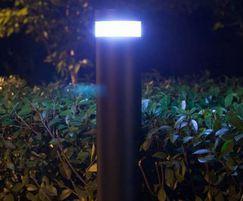 Solar-powered pathway light