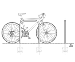 Sheffield cycle parking stand (drawing)