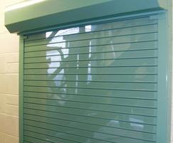 Lath roller shutter ideal for securing premises