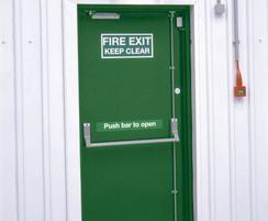Uniguard hinged steel security door