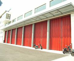 Eurofold horizontal sliding folding security shutters